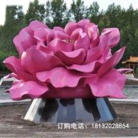 公园不锈钢抽象牡丹花雕塑