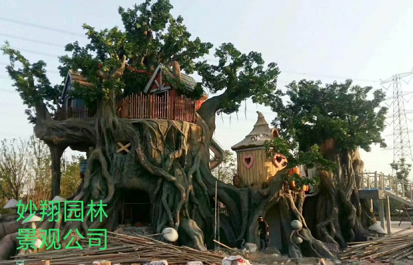 假树盆景_水泥假树图片_假树价格