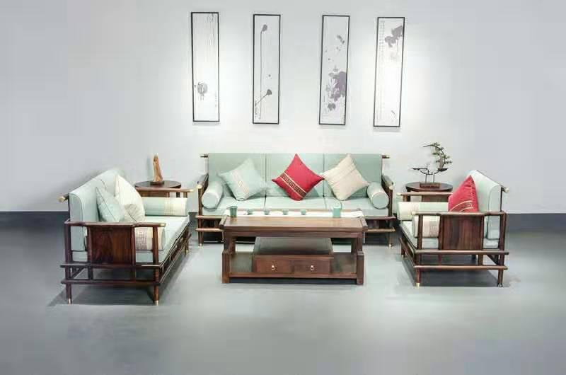 新中式沙发 新中式沙发背景墙 新中式沙发图片大全