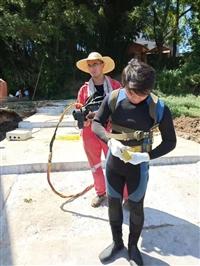 孝感桥墩水下加固,模袋混凝土施工,钢围堰水下封底