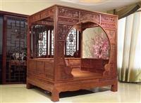 红木架子床拍卖再创新高