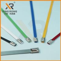 浙江兴荣XR-C1自锁喷塑不锈钢扎带 超长可定制