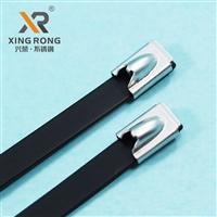浙江兴荣XR-C2包塑自锁不锈钢扎带 电缆钢扎带