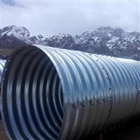 供應台湾市鋼波紋圓管涵 運馳鋼波紋管廠家 東北鍍鋅波紋涵管