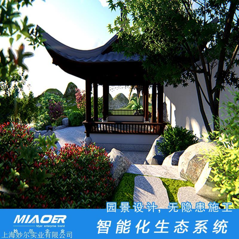 中式别墅庭院景观设计方案_中式设计别墅设计_中式别墅庭院设计