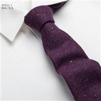 優雅彩點方格羊毛休閑男裝領帶