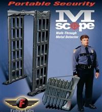 美国M-Scope安检门 Fisher-Lab便携式安检门 可拆卸安检门