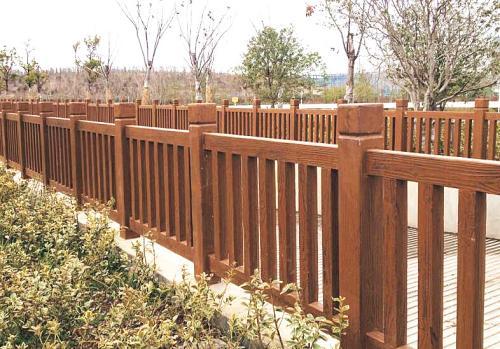 惠州仿木護欄施工 簡直和真的一模一樣
