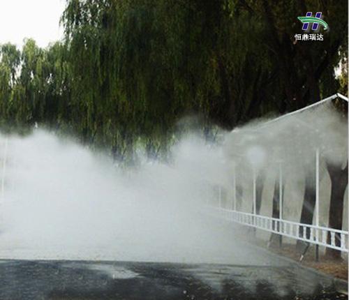 百色专业高压人造雾机设计 样板间水雾造景 尺寸精准