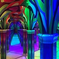 絢麗網紅館鏡花迷宮 魔幻鏡宮活動道具 尺寸可定制