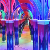 巨斧游樂鏡子迷宮設備活動道具 尺寸可定制