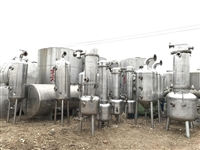 供应二手一吨三效浓缩蒸发器