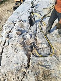 巖石拆除混凝土分裂棒工程巖石不爆破怎么破碎