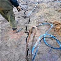替代人工破石頭巧妙方法劈裂機代替炮錘怎么快速開石頭