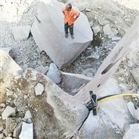 替代人工破石頭巧妙方法劈裂機一套劈裂棒一天能劈石多少噸