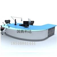 天津市带灯光科技感中控台播音桌演播桌广播桌