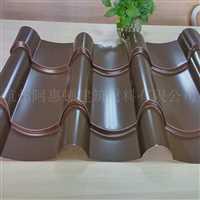 吉林彩鋼仿古琉璃瓦0.9mm765型浙江廠家生產