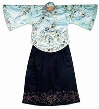 松江區繡花旗袍 民國老衣服老瓷器近期