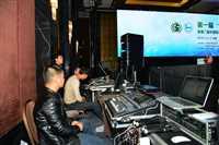 北京会议大屏出租 舞台背景板搭建投影仪租赁