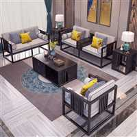 和家安 红木家具 非洲花梨紫檀中式实木床 婚床双人床 别墅卧室家具 1.8米大床组合