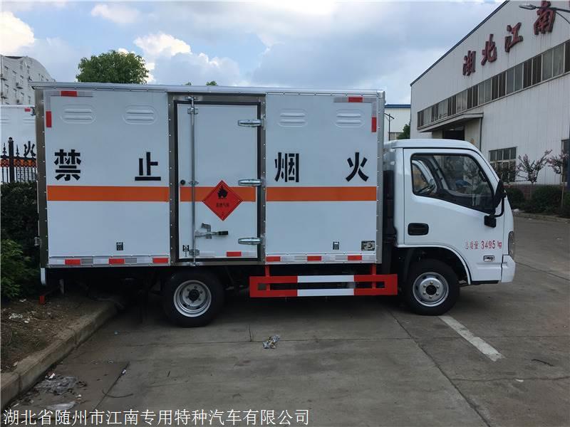 镇江市国六跃进易燃气体厢式车 易燃气体厢式凯发彩票注册