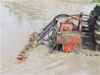 一馬牌自動水平4.9米折疊式水田整平機