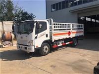 河源市国六解放腐蚀品厢式车 3.5米易燃气体车