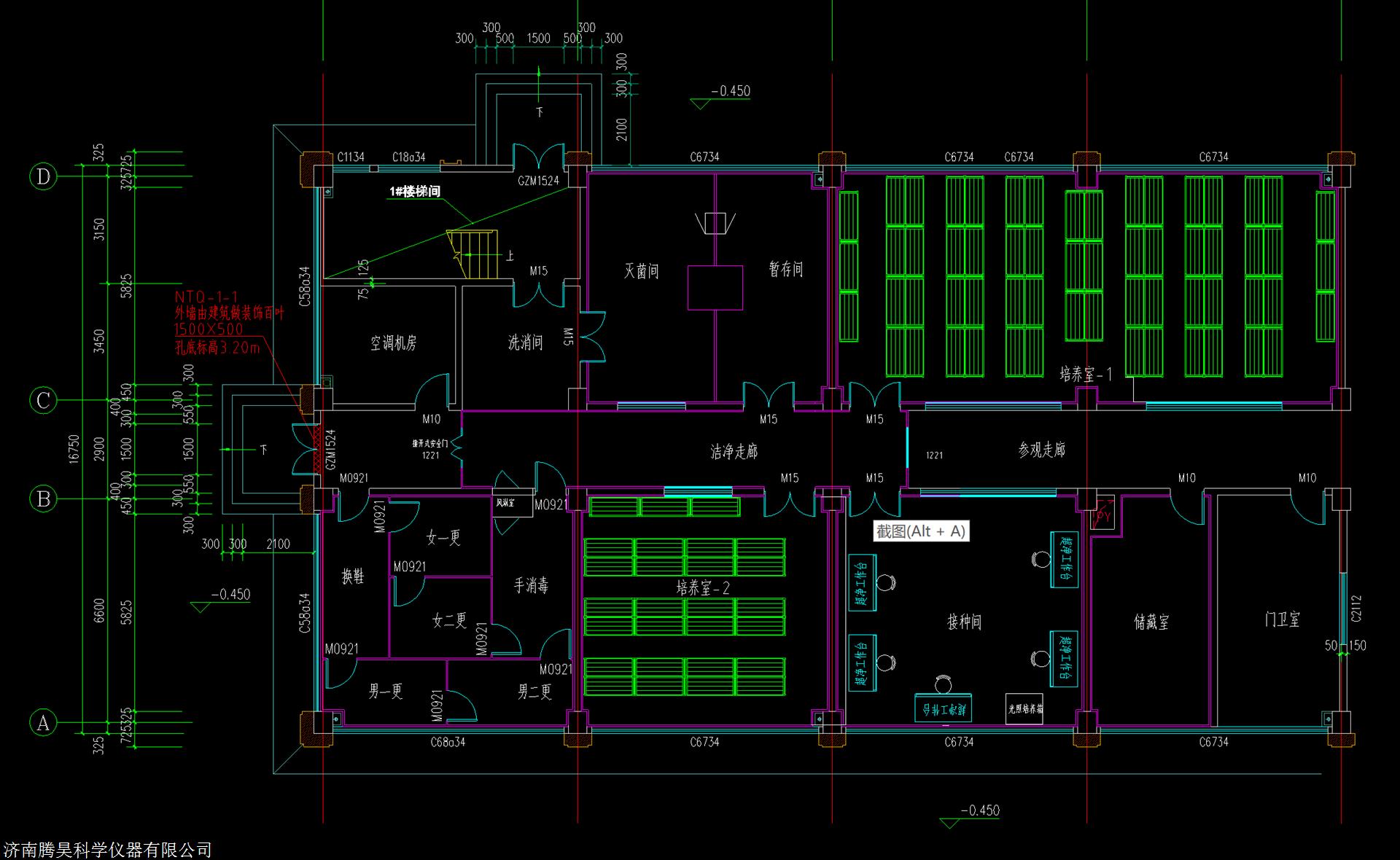 马铃薯组培室CAD图,马铃薯组培室平面图,马铃薯组培室设计图