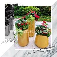 玻璃钢花盆组合厂家 金色玻璃钢花盆休闲椅 茶几来图定制 仿石