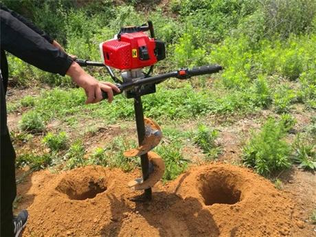小型地钻挖坑机手提打洞时效准