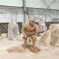 广州玻璃钢人物雕塑 革命主题宣传雕塑 玻璃钢抗战英雄雕塑