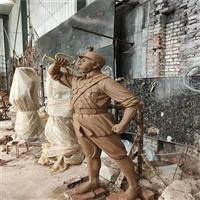 佛山玻璃钢革命主题雕塑 红军人物雕塑 玻璃钢仿铜人物雕塑