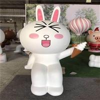 佛山卡通动物雕塑 玻璃钢卡通兔子雕塑 佛山玻璃钢卡通雕塑