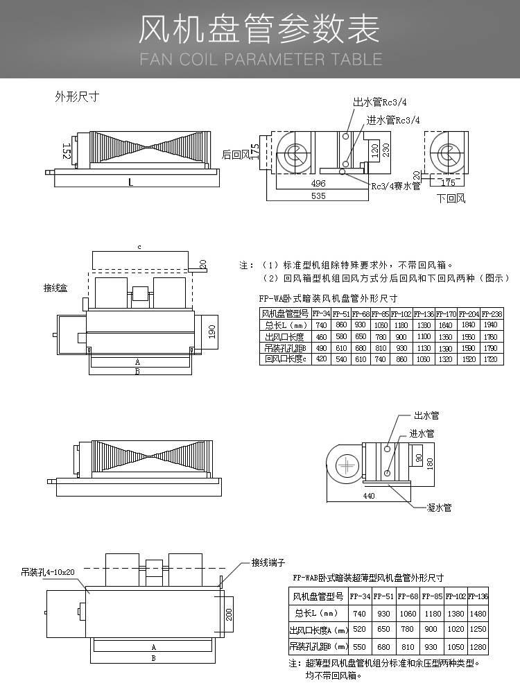 中央空調末端風機盤管 低噪聲臥式暗裝風機盤 管制暖制冷風機盤管廠家供應