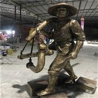 佛山玻璃钢人物雕塑 农耕主题人像雕塑 佛山仿铜人物雕塑