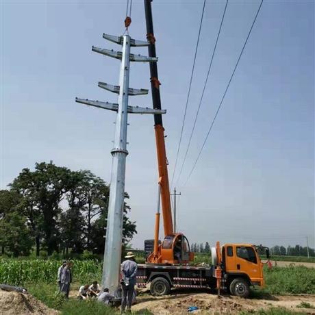 攀枝花市21m66千伏直线耐张输电钢杆出厂报价 电力钢杆基础