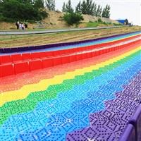 彩虹滑道 七彩滑道 景区游乐园大型滑道 厂家支持定做 hunayingla
