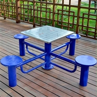 棋盘桌多少钱 公园广场不锈钢象棋桌厂家