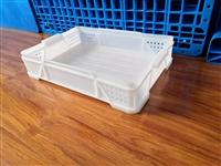 白色加厚塑料面包箱 長方形物流運輸中轉筐 食品周轉箱可堆疊糕點