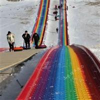 他们在那里彩虹滑行 大型旱雪滑道 七彩旱滑滑道 四季滑草设备