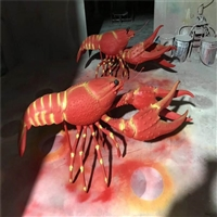 玻璃钢小龙虾雕塑 佛山玻璃钢龙虾模型雕塑