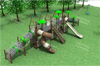 幼兒園滑滑梯塑料滑梯,木質滑梯價格便宜,攀爬網攀爬架幼兒園