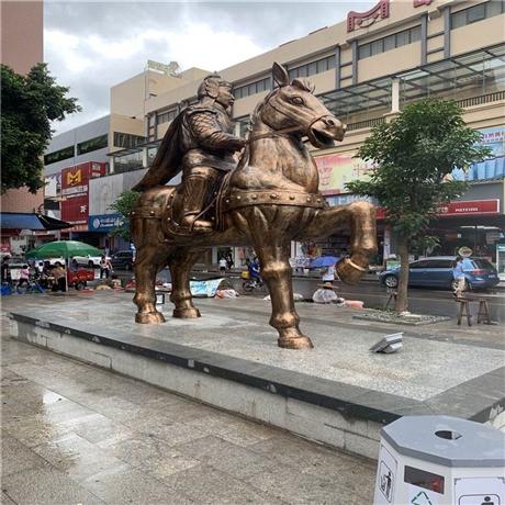 玻璃钢骑士雕塑 佛山玻璃钢人物雕塑 玻璃钢仿铜雕塑