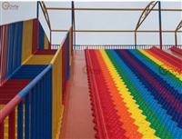 景區旱地滑道,四季滑雪塑料滑道,七彩虹滑道廠家定制直銷
