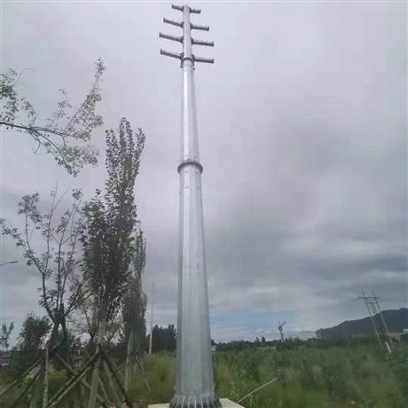 渭南12米110kv输电钢杆报价