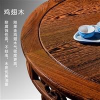 福建专业生产酒店新中式 缅甸鸡翅木 架子梳妆台