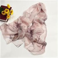 真絲圍巾廠家新款卷邊絲綢絲巾女歐美印花桑蠶絲圍巾定制越緹紡織