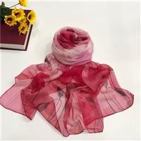 真絲圍巾廠家新款絲巾印花裝飾圍巾桑蠶絲防曬紗巾披肩越緹紡織廠