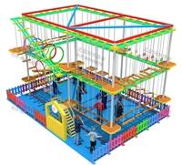 兒童樂園設備,室內闖關游戲攀爬網設備,游樂場拓展彩虹網