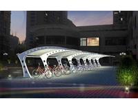 順發專業定做鄭州MJG054自行車膜結構停車棚 擋雨蓬 廠家直銷